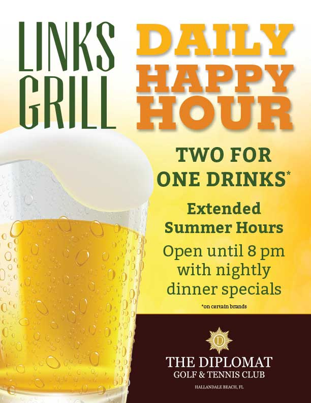 Diplomat Happy Hour Flyer